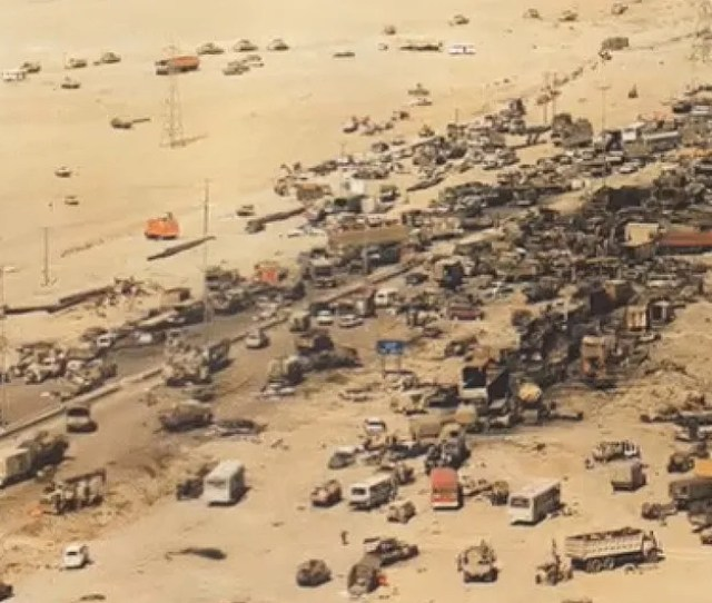 Highway 80 Was A Six Lane Highway Leading Across The Desert From Basra Iraq To Kuwait City It Was One Of The Main Highways That Gave Iraq Quick Access