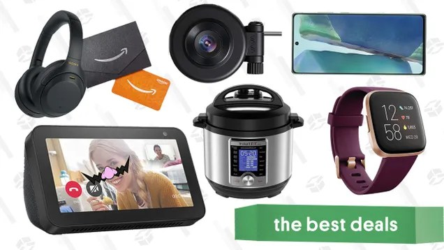 qmwaomnzlzuia4vxxboo Tuesday's Best Deals: Amazon Prime Day, Instant Pot Ultra, Echo Show 5, Galaxy Note 20 5G, Sony Noise Canceling Headphones with $25 Gift Card, Fitbit Versa 2, and More | Gizmodo