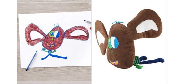 Ikea Turned a Bunch of Children's Drawings Into a New Line of Stuffed Toys