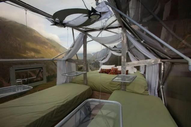 Este hotel colgante asegura buena comida, mejores vistas y muchos gritos