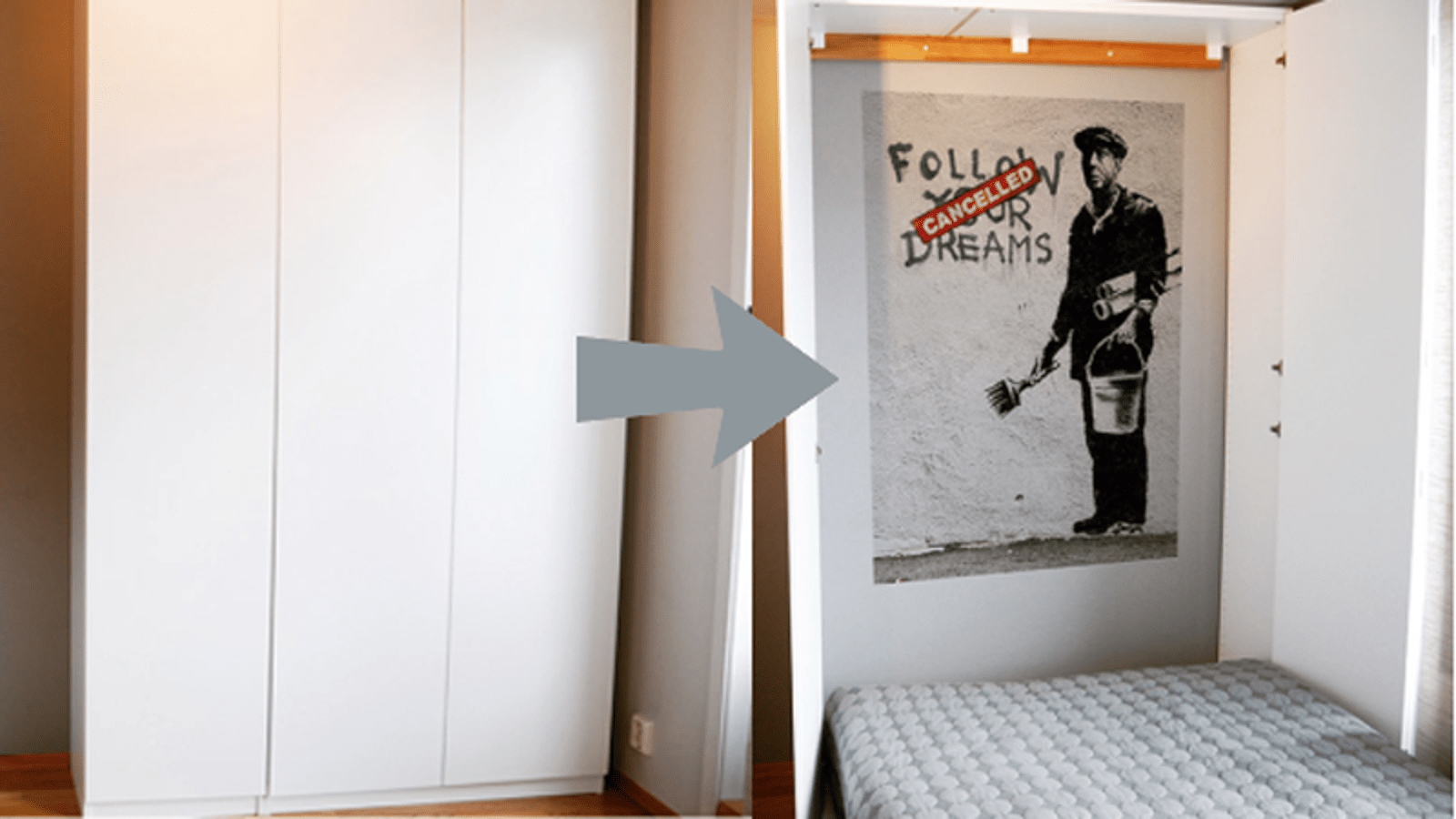 Turn Ikea Cabinets Into A Murphy Bed