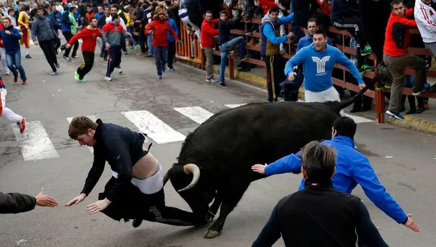 American Student Learns the Downside of Running With the Bulls
