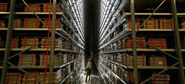 The Giant Robots That Serve the World's Largest Library Archives
