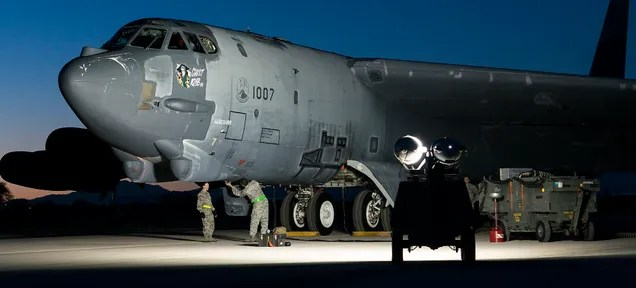 B-52H 61-0007 Ghost Rider being readied for the flight to Louisiana