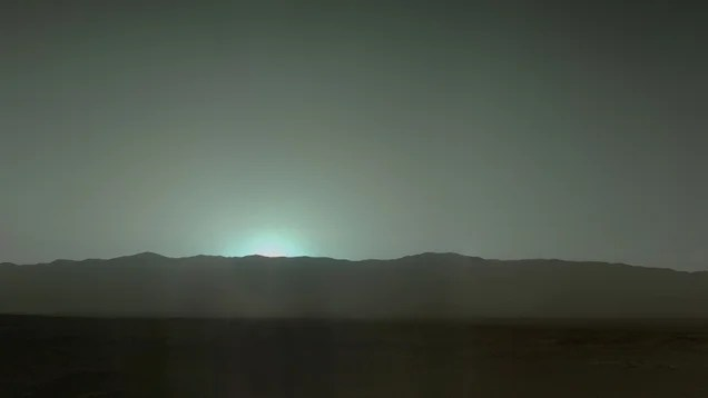 The Stunning Bluish-Green Sunsets Of Mars