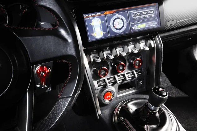 Interior of Subaru BRZ STI Performance Concept