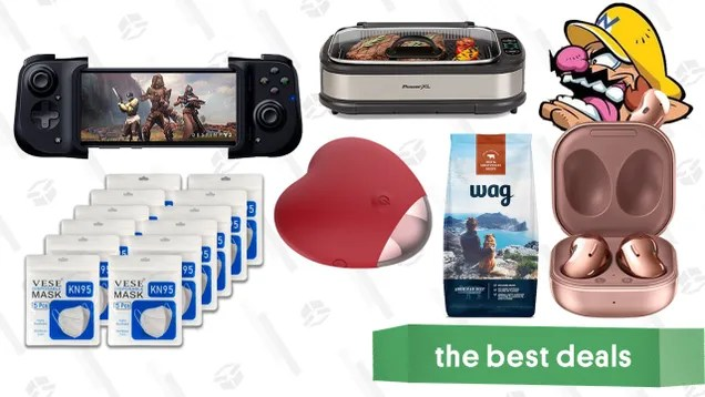 cinyzi5qbenqvniebt9k Tuesday's Best Deals: Samsung Galaxy Buds Live, KN95 Masks, Razer Kishi, Wag Dog Food, Roomba i6+, Power XL Smokeless Grill, Don't Text Your Ex Vibe, and More | Gizmodo