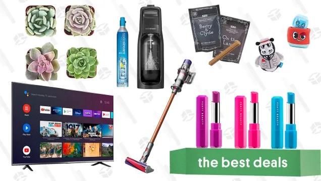 "kw60wba6zg4utlytacdp Saturday's Best Deals: TCL 50"" 4K Smart TV, BarkBox Monthly Subscription Box, Succulents & Plants, SodaStream Kit, Fenty Poutsicle Lipsticks, and Dyson V10 Absolute | Gizmodo"