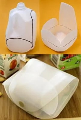 Make a Lunch Box from a Milk Jug from Lifehacker