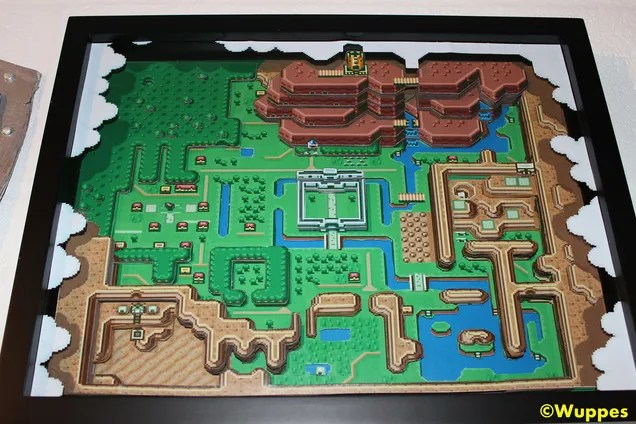 The Legend Of Zelda: A Link To The Past 3D Papercraft Map