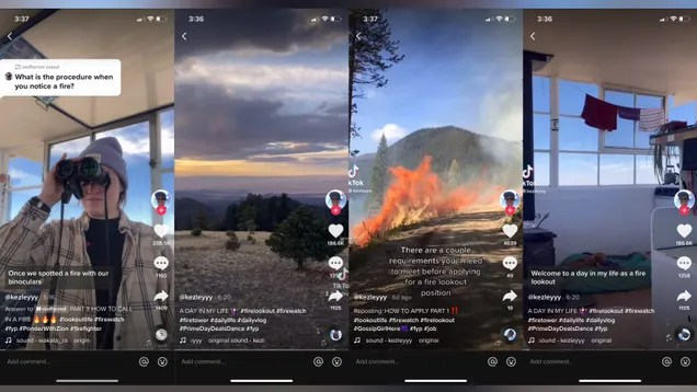 8accbc44a0d5e849bb2cae83b190bb77 Meet the Unlikely TikTok Star Who Hunts Wildfires From the Top of a Mountain | Gizmodo