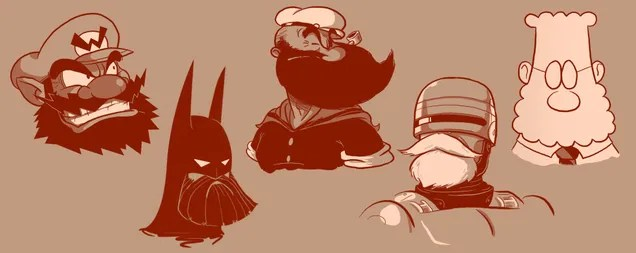Famous characters look more badass with cool beards on them