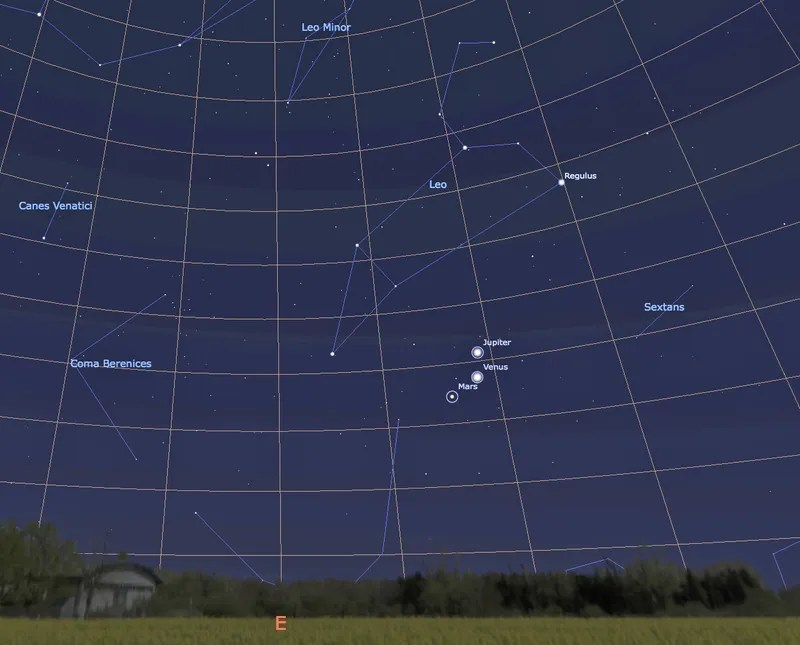 How to Watch This Week's Rare Conjunction of Venus, Mars and Jupiter