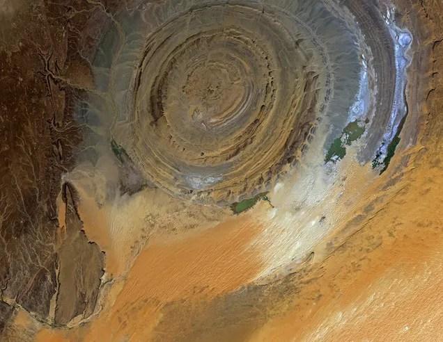 The Eye of the Sahara Is An Enigmatic Desert Landmark