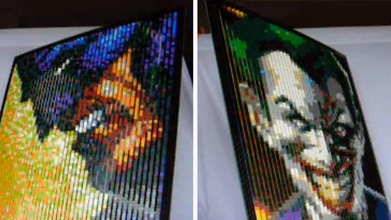 Image result for Arthur gugick lenticular images) Lego sculpture