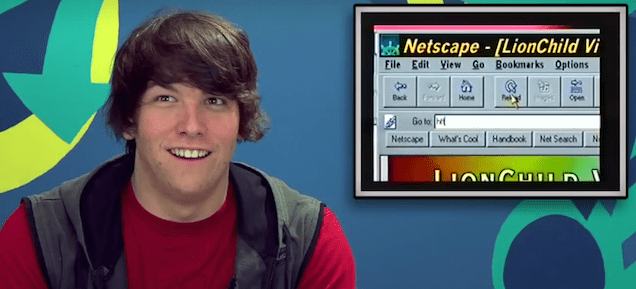Watch teenagers get hilariously confused about the internet in the 90s