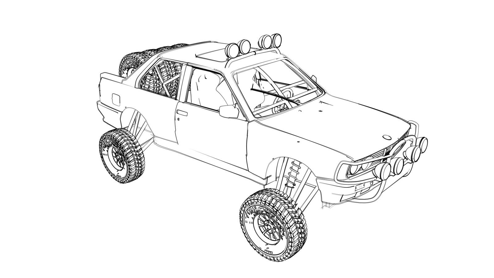 500 Craigslist Rally Car Goes To The Baja