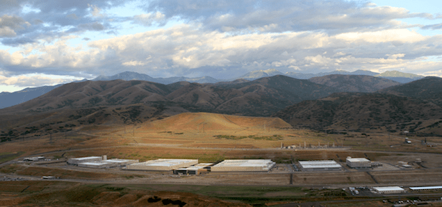 This Image of the NSA's Utah Data Center Was Taken From the EFF's Blimp