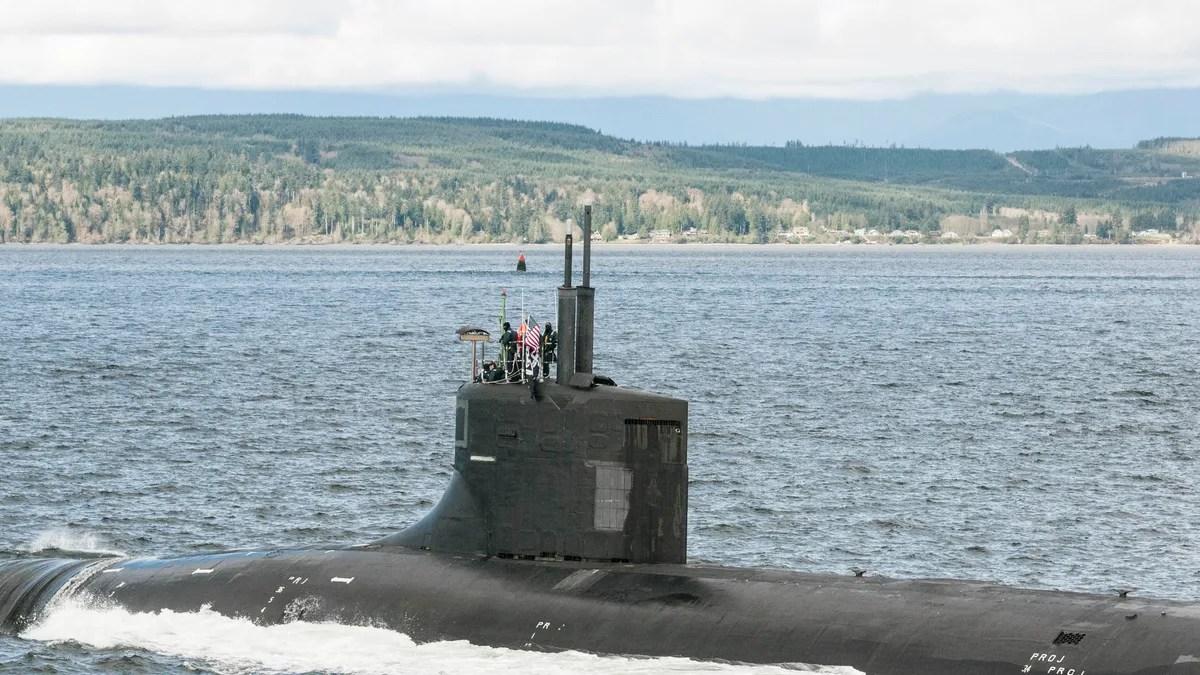 america's most secret spy sub returned to base flying a