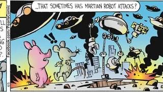 <em>Calvin & Hobbes'</em> creator has been secretly drawing this comic strip!