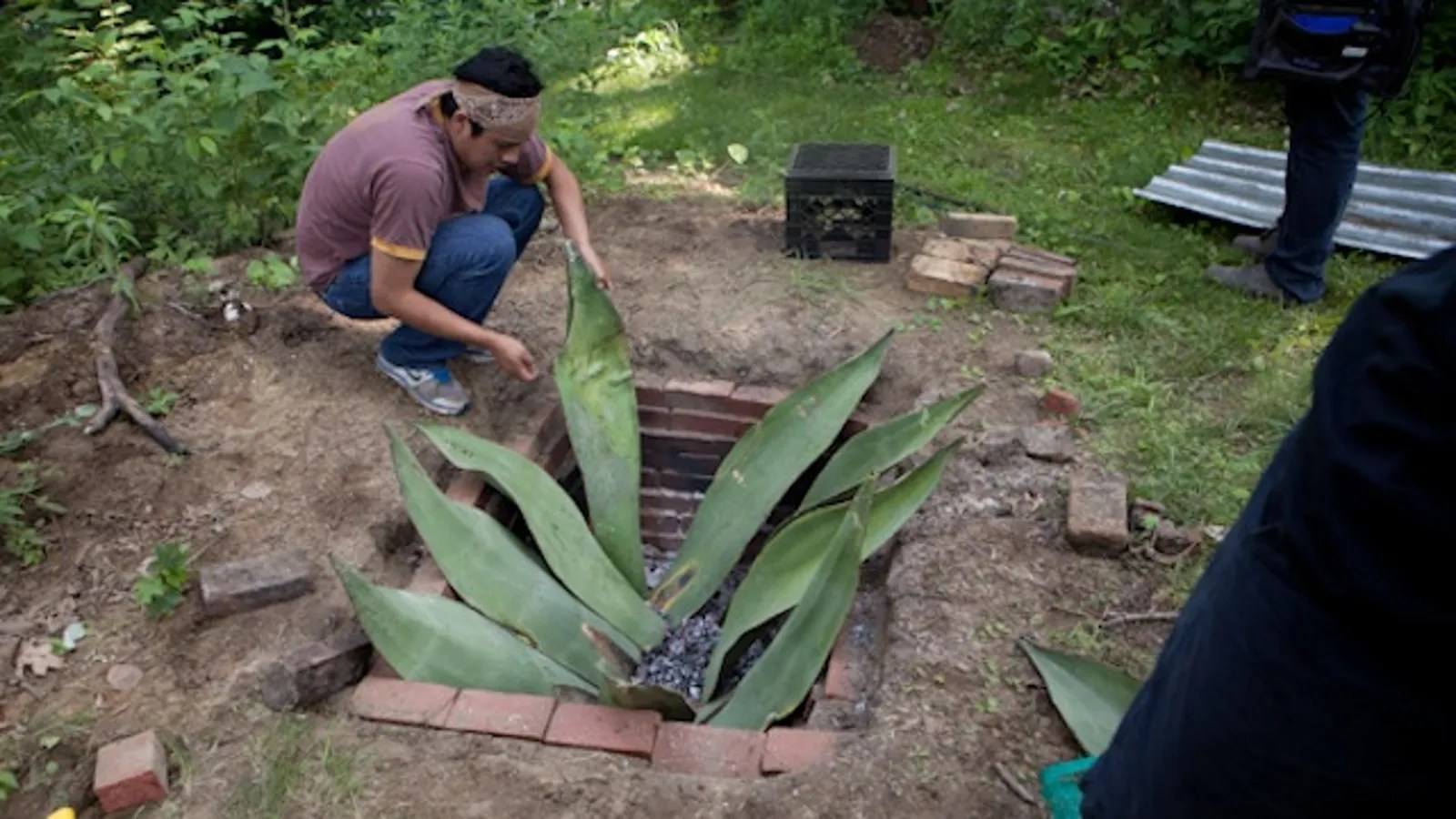 Build Your Own Backyard Fire Pit for Serious Summer Cooking on Building Your Own Outdoor Fireplace id=90336