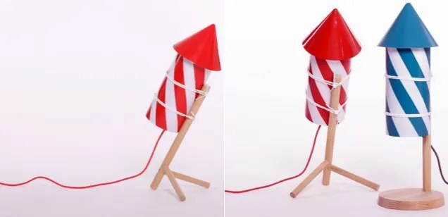 Make Like Wile E. Coyote With These Adorable Firecracker Lamps
