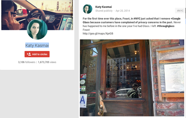 Glassholes Use Google to Destroy a Restaurant's Rating