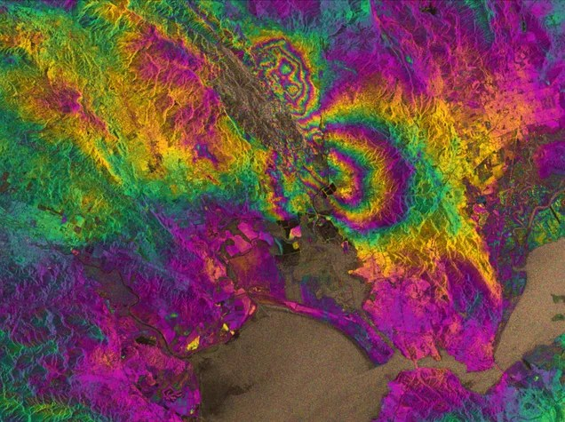 Sentinel Satellite Reveals the Aftermath of Napa's Earthquake