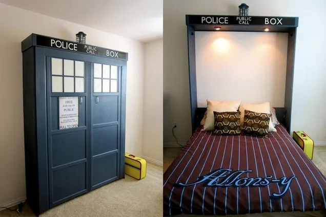 This Doctor Who TARDIS Bed Is Literally Bigger On The Inside