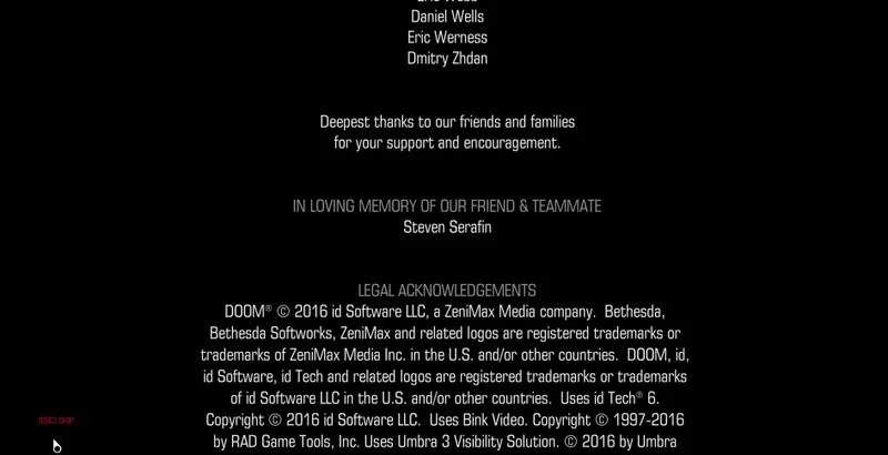 Doom Credits Pay Tribute To Developer Who Passed Away
