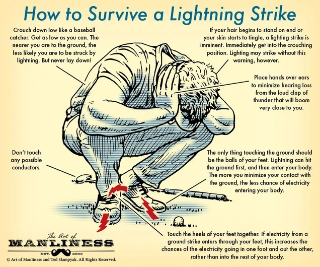 An Illustrated Guide To Surviving A Lightning Strike