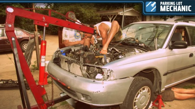 Image result for redneck fixing car