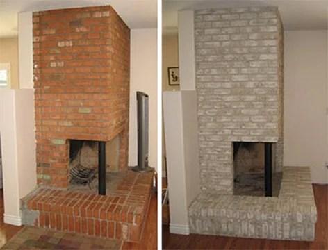 Properly Paint a Brick Fireplace on Brick Painting Ideas  id=41611