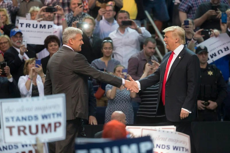 Rex Ryan Introduces Donald Trump, A Man Who Has Also Failed A Lot In New York, At Rally