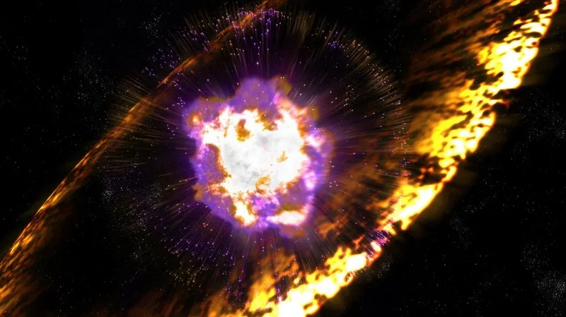 A Cosmic Explosion Left Radioactive Fallout at the Bottom of the Ocean