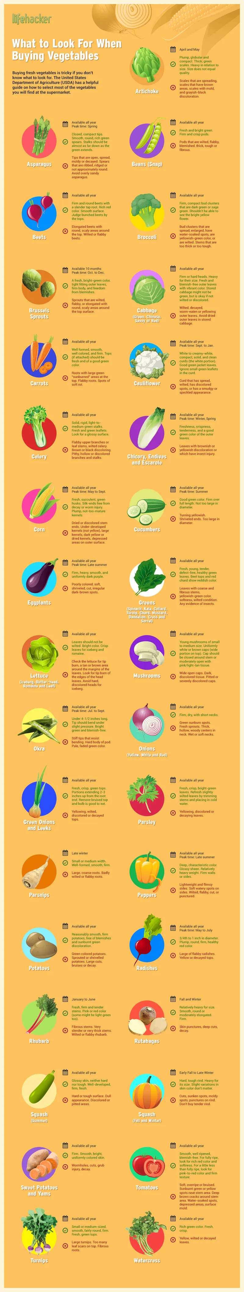 Buying Vegetables Guide [Infographic] | ecogreenlove