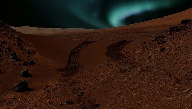 This Is What The Aurorae Look Like On Mars