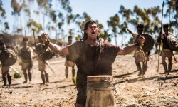 Samson tries to place an evangelical spin on the Bible's horniest strongman