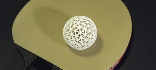 A 3D-Printed Squeezable Ping-Pong Ball That Won't Dent