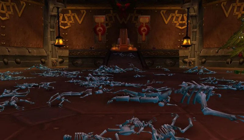 Illustration for article titled Sorry, You Can't Spell Out Messages With Skeletons In WoW Classic