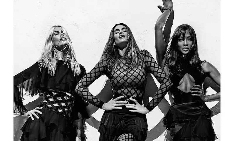 Iconic Supes Cindy Crawford, Naomi Campbell, Claudia Schiffer Land Balmain Campaign