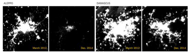 Disturbing Satellite Images Show How The Lights Have Gone Out In Syria