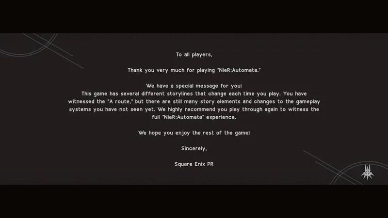 Square Enixs Message After Nier Automata Ending A Is Just Confusing Kotaku UK