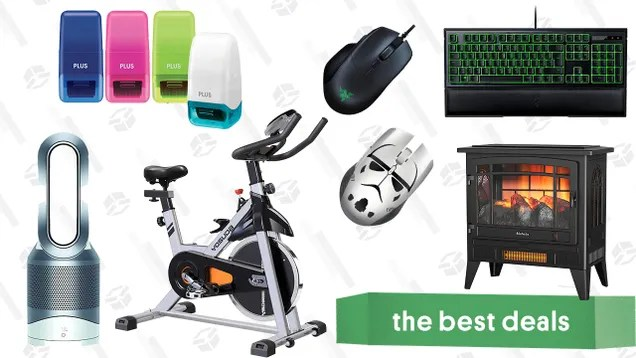 ykn4kjvkids0yq4okeld Saturday's Best Deals: Razer Accessories, Dyson Hot + Cool Air Purifier, Indoor Electric Fireplace, Yosuda Stationary Bike, Identity Guard Rolling Stamps, and More | Gizmodo