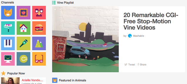 Vine's Website Turned Into a Massive Searchable Library of Tiny Vids