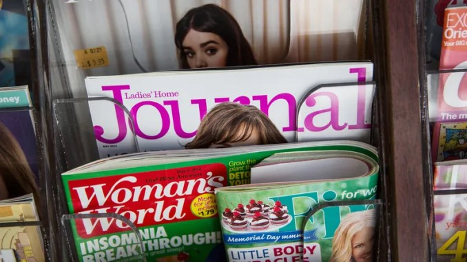 Ladies' Home Journal on stands in April 2014. That month, the magazine announced it was folding after 131 years of publishing.