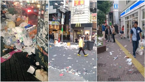 Shibuya thrashed after Halloween [Images via 2ch]