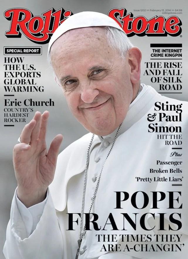 Ferenc pápa a Rolling Stone címlapján