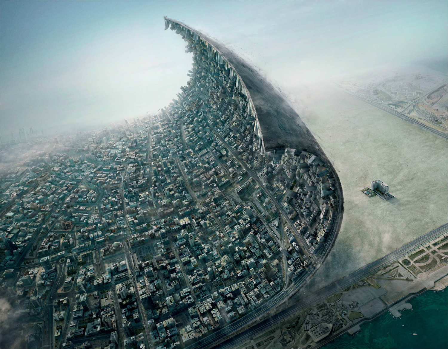 What Would It Look Like If You Could Peel A City Off Earth