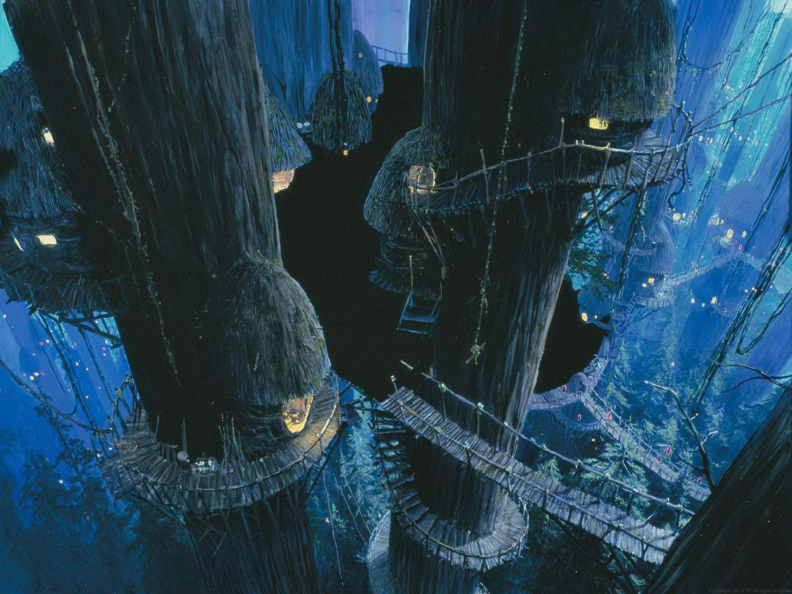 Image result for star wars matte painting